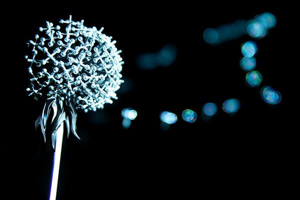 DANDELION, , Immersive, interactive audio-visual sculpturePewter, gaming jacks